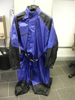 Richa Waterproof One Piece Full Body Rain Over Suit In Blue / Black Size Small