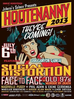 "Social Distortion / Face To Face ""hootenanny 2013"" Irvine Concert Tour Poster"