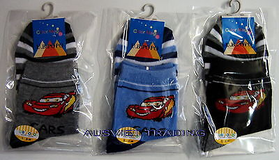 Brandnew Disney Pixar Cars Socks Sox set of 3 pairs boys