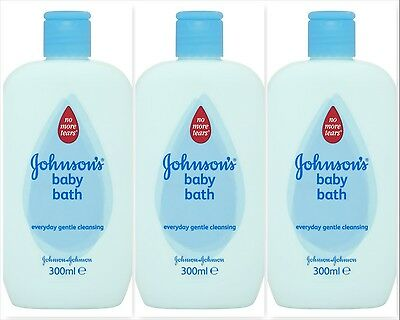 x3 Johnson's No More Tears Baby Bath (3 x 300ml)