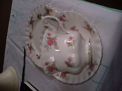 "Bone China Trio Of Tea Plate,cup & Saucer In The ""rose Time"" Pattern By Richmond"