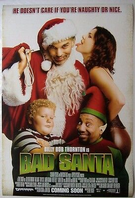 Bad Santa (2003) ORIGINAL D/S INT ONE-SHEET MOVIE POSTER,  Billy Bob Thornton