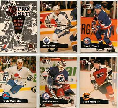 NHL Pro Set Full 6 Card Promo Prototype Preview Card Set from 1991