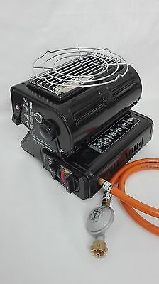 Camping heater Tent heater Cooker 2 in 1 + Connection to LPG big bottle