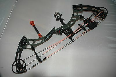 Used 2016 Bear Archery Escape 45-60# Right Hand Compound Bow Olive Drab Loaded