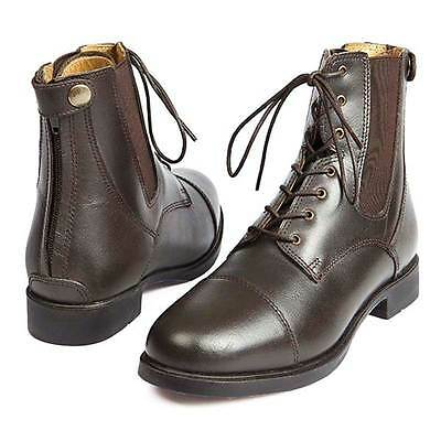 Elico Bramhope Leather Laced Zipped Paddock Jodphur Boots BROWN **SALE PRICE**