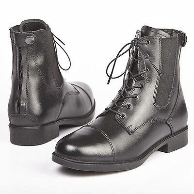 Elico Bramhope Leather Laced Zipped Paddock Jodphur Boots BLACK size 43 *SALE*