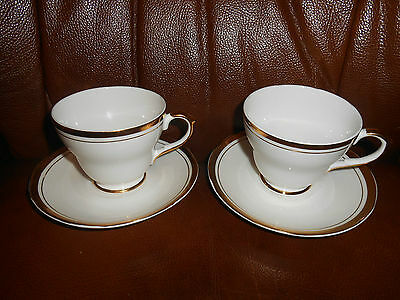 Staffordshire,  Sheriden,  X  2  Cups & Saucers