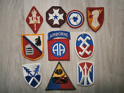 Us Army Lot J Of 10 Coloured Patches