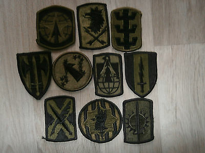 Us Army Lot A Of 10 Subdued Patches