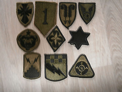 Us Army Lot B Of 10 Subdued Patches