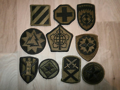 Us Army Lot D Of 10 Subdued Patches