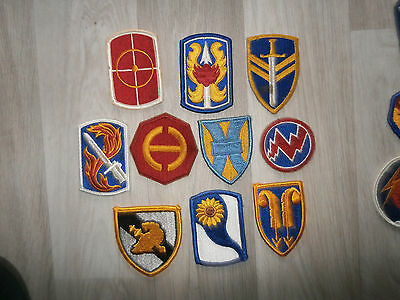 Us Army Lot G Of 10 Coloured Patches