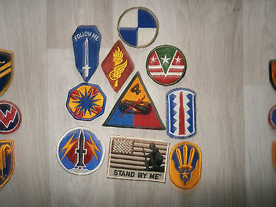 Us Army Lot H Of 10 Coloured Patches