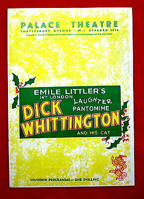 Palace Theatre Dick Whittington and His Cat 1956 Program London England msc3