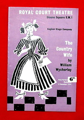 Royal Court Theatre The Country Wife 1950s Program London England msc3