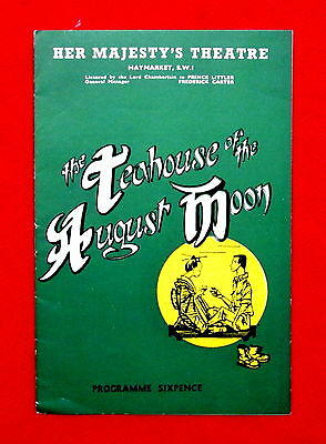 Her Majesty's Theatre Teahouse of the August Moon 1954 Program London msc3