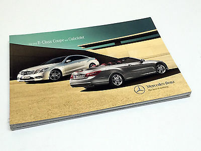 2012 Mercedes-Benz E-Class Coupe Cabriolet E350 E550 C207 Brochure