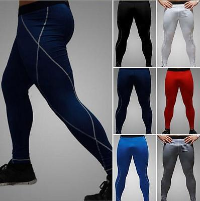 Sexy Men Sports Long Pants Running Gym Fitness & Yoga Tight Trouser Quick-drying