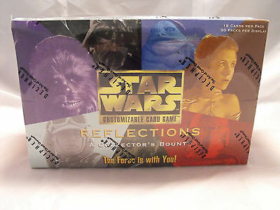 Star Wars Ccg Reflections Complete Sealed Booster Box Of 30 Packs