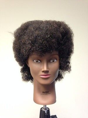 Black Cosmetology Mannequin Head 100% Afro Style Human hair Jordan by Giell