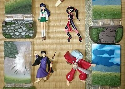 "InuYasha 2.5-3"" Figure 4pcs RARE Authentic Bandai Japan k#16764"