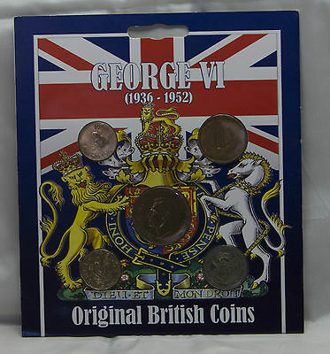 1936 - 1952 George VI Original British Coins - 1939 & 1943-47 Westair Coin Set