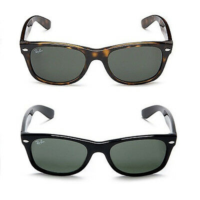Ray-Ban New Wayfarer Classic Sunglasses G-15 Lenses Choice of Frame Size & Color