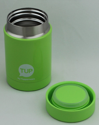 NEW Tupperware Mini Insulated Jar Consultant Award Stainless Steel Inside Green