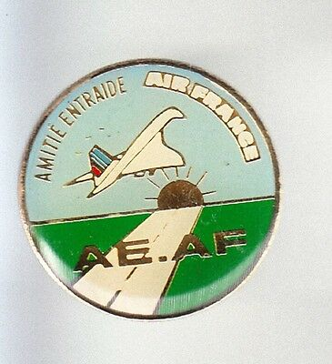 Rare Pins Pin's .. Avion Plane Airlines Air France Concorde Amitie Antraide ~Bl