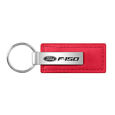 Ford F-150 Red Leather Key Chain Keychain, Official Licensed