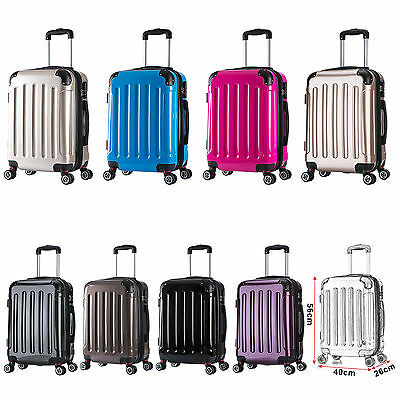Voyage Valise Trolley 4 Roues De Coquille Dure Bagages À Main M #376-1