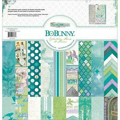 Bo Bunny Enchanted Garden 12X12 Collection Kit Pack Scrapbooking Paper