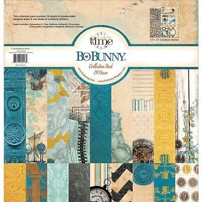 Bo Bunny Somewhere In Time 12X12 Collection Kit Pack Scrapbooking Paper