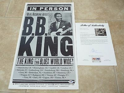 BB King 2012 Blues Signed Autographed 14x22 Concert Poster PSA Certified #2