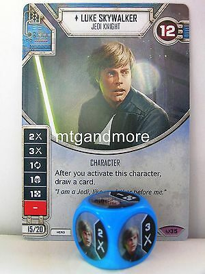 Star Wars Destiny - 1x #035 Luke Skywalker + Die - Awakenings