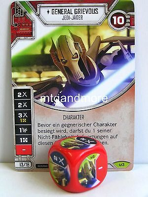 Star Wars Destiny - 1x #003 General Grievous + Würfel - Awakenings