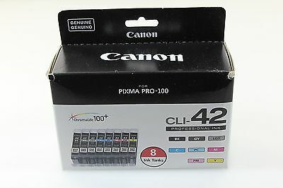 Canon 6384B007 Genuine CLI-42 Ink Cartridges  Value 8 Pack Black and Multicolor