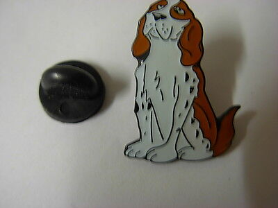 Springer Spaniel dog pin badge. Well detailed lapel badge, Cocker, King Charles