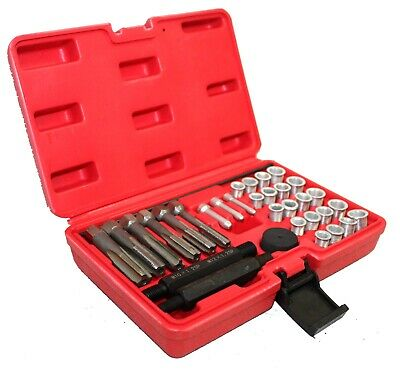33pcs Cylinder Head Glow Plug Tap Thread Re-threading Repair / Restore Tool Set