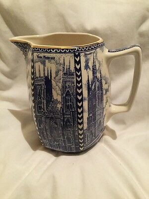 Ringtons Tea Blue And White Cathedral Jug