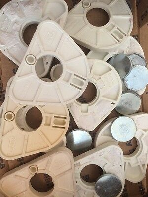 Lot 10 WhipMix Dental Articulating Mounting Plates Magnetic Part # 8722