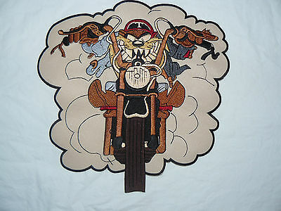 Demon Rider TAZ Devil Iron-on/sew-on Embroidered Patch Motorcycle Biker