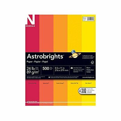 Neenah Astrobrights Premium Color Paper Assortment 24 lb 8.5 x 11 Inches 500