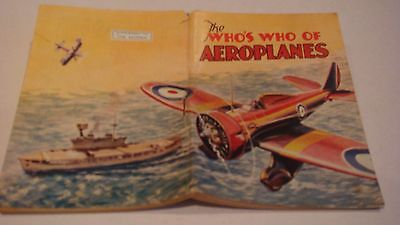 Raf, The Whos Who Of Planes Skipper Thomson  52 Pages Of Information Good C1937