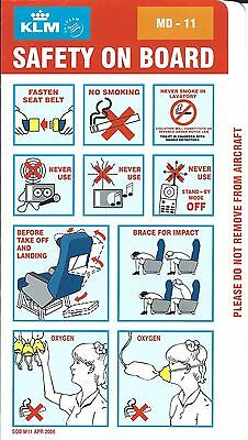 Safety Card - KLM - MD-11 - 2006 - Orange Background (S1633)
