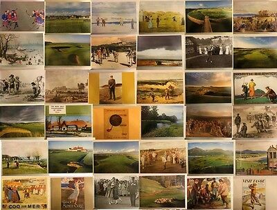 Golf Course Players & Poster Picture 23x16cm