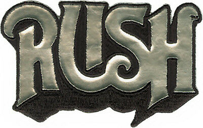 Rush Iron-On Patch Silver Letters Logo