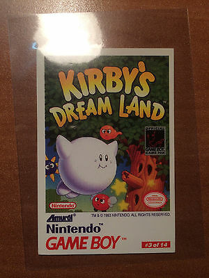 1993 Nintendo Game Boy Trading Tip Cards #3/14 Kirby's Dream Land