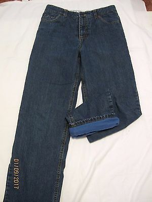 Land's End fleece lined Jeans size Youth 16 with adjustable waist